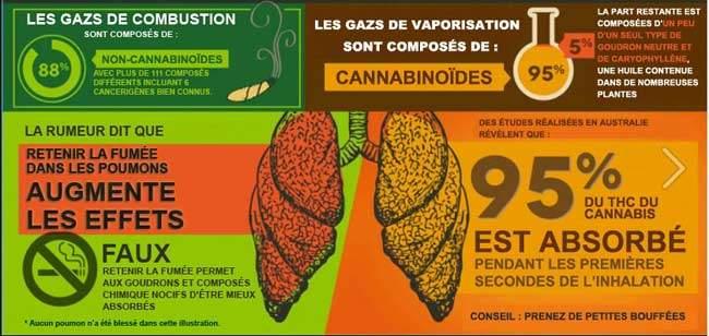 Comparaison des effets de la vaporisation par rapport à la fumeé