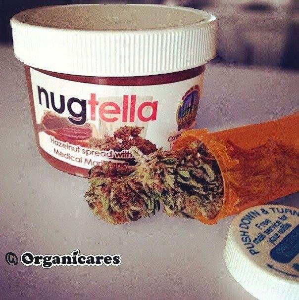 Pot de nugtella : pâte à tartiner au cannabis