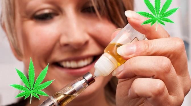 e-cigarette avec e-liquide Cannabis THC