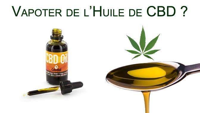 Vapoter de l'huile de CBD (cannabinoïde)