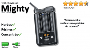 Avis vapo portable Mighty 2015
