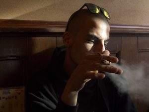 Volute de fumée de joint de Weed
