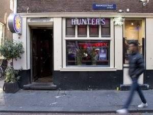 Façade du Coffeeshop Hunter's à Amsterdam