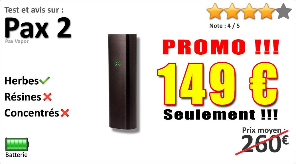 Vaporisateur portable PAX 2 pas cher ! Prix réduit à 189 € au lieu de 259€