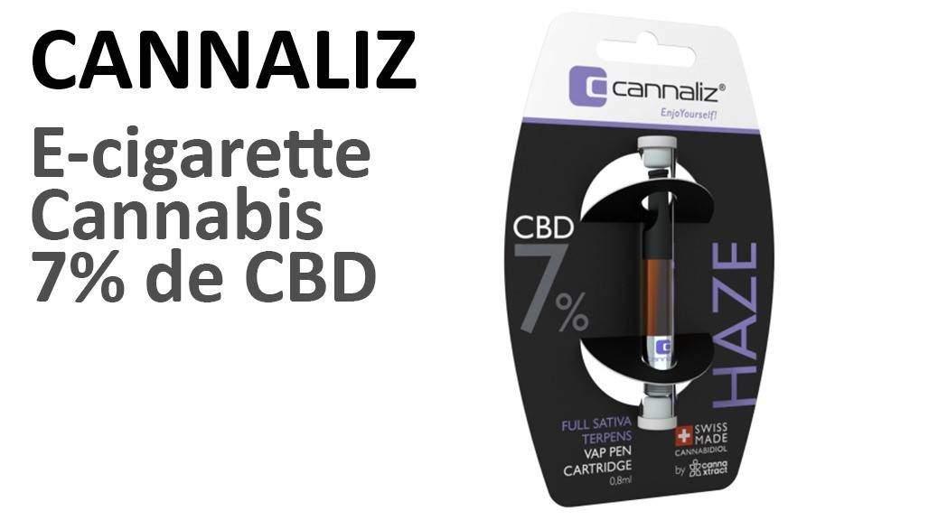 Avis sur la E-cigarette Cannabis CBD CANNALIZ