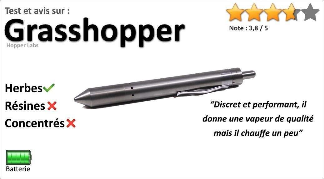 Test & avis sur le vapo stylo portable Grasshopper