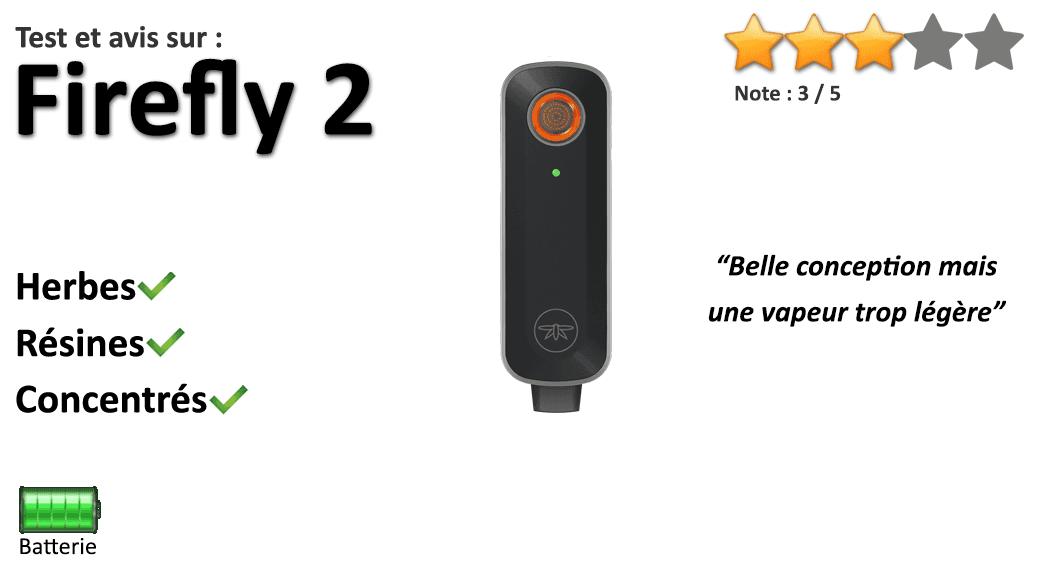 Avis sur le vapo portable Firefly 2