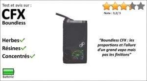 Test et avis sur le vapo portable Boundless CFX