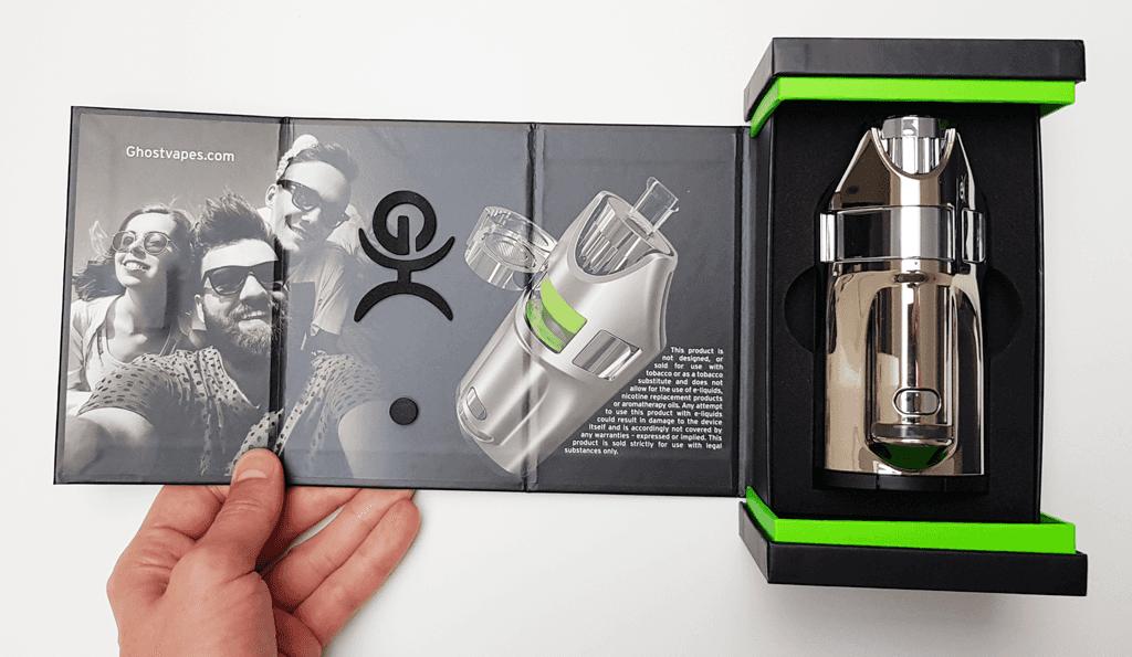 Vapo Ghost MV1 dans sa boîte