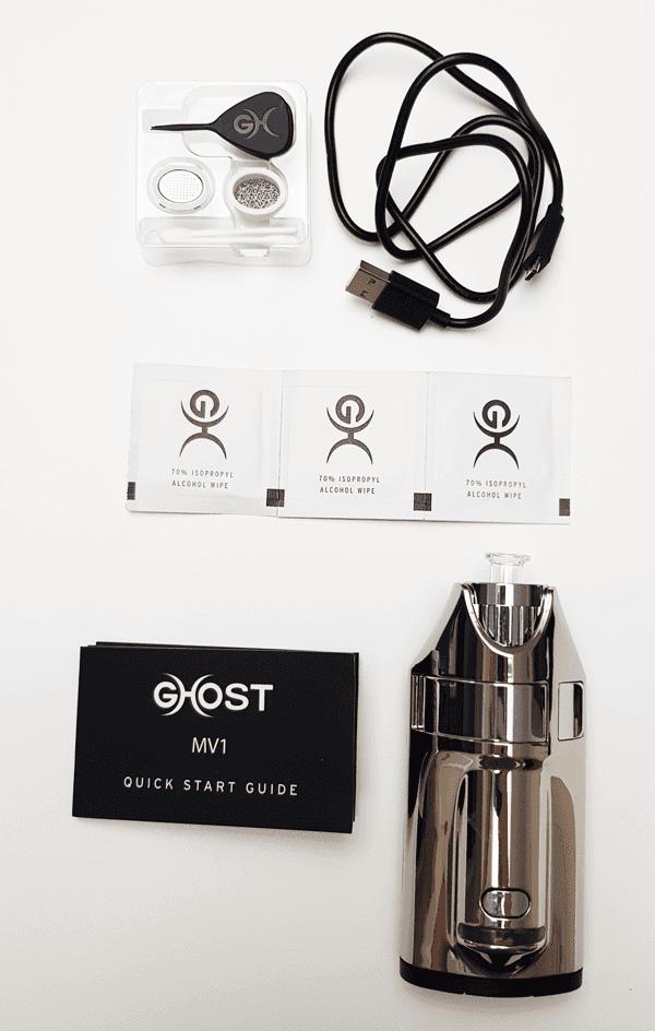 Vapo Ghost MV1 et ses accessoires